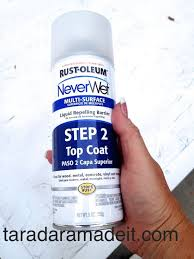 waterproof many surfaces with this spray paint