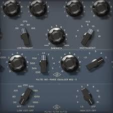 uad audio plug ins universal audio pultec passive eq collection