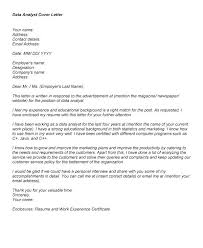 Data Analyst Cover Letter Cover Letter Examples Data Analyst ...