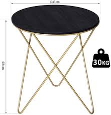 Hope you gather some ideas from these pieces.join me o. Homcom Wooden Metal Round Coffee Table Sofa End Side Bedside Table Modern Style Living Room Decor F43cm Black Gold Color