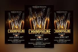 Black Flyer Backgrounds Champagne Luxury Free Psd Flyer Template Psdflyer Co