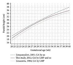 Fundal Height Growth Curves At The 50th Percentile Derived