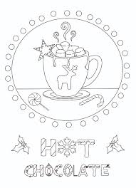 Small Picture Free printable Hot Chocolate coloring page from the Ornaments of