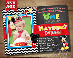 Make Your Own Mickey Mouse Invitations Mickey Mouse Clubhouse 1st Birthday Invitations Kinderhooktap Com