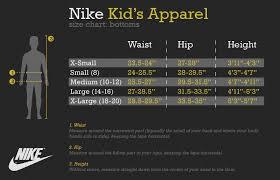 Nike Boys Clothing Size Chart Nike Size Chart Clothing Www Bedowntowndaytona Com
