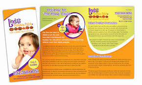 Samples Of Daycare Flyers Day Care Brochure Examples Design Cancerlineuk Net