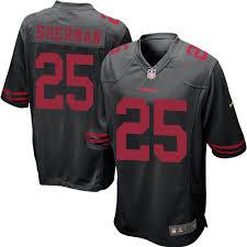 49ers Jersey Men's Black Game Richard Sale Sherman San 25 Alternate Francisco Football