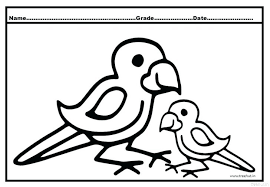 Parrot Coloring Pages To Print Printable Free Scenic Of Parrots Chic