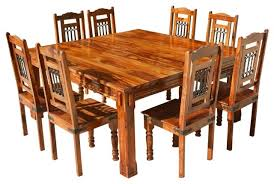 solid wood transitional 7pc dining room table chair set view larger