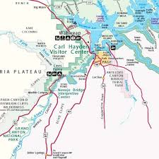 Lake Powell Map Location Directions To Page And Lake Powell