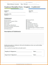 Free Template Employee Counseling Form Large Size Discipline Doc