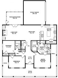 3 bedroom 2 bath southern style house plan with wrap around