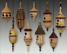 woodturning christmas ornaments. birdhouse ornaments, by don leman. woodturning christmas ornaments n