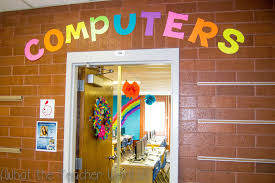 computer lab bulletin board ideas for elementary students. Classroom Tour! {Compter Lab - Rainbow Themed} Computer Bulletin Board Ideas For Elementary Students E