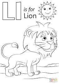 L For Lion Coloring Page L L L L L L L L