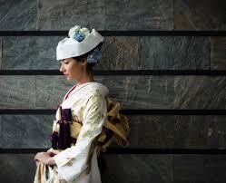 At Mariekiyomi Kiyomi Hasegawa 洋髪に角隠し 洋髪に角隠しの