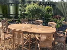 teak garden furniture premium oval