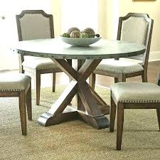 dining tables dining table with metal top coaster transitional style round zinc room alluring