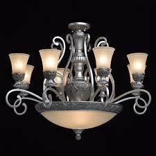 Wohnzimmer Kronleuchter Silber Glas Groß Vintage