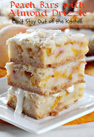 Peach Kitchen Peach Bars With Almond Drizzle Cant Stay Out Of The Kitchen