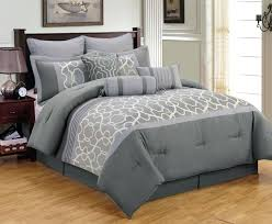 burdy and gray comforter set black