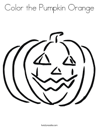 Small Picture Color the Pumpkin Orange Coloring Page Twisty Noodle