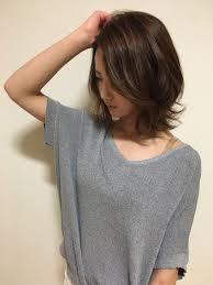 外ハネ ミディアムレイヤー ヘアカタログ Hair ヘア