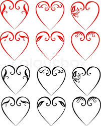 stock vector of vector ilrations of decorative hearts