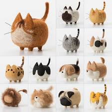 Non finished Accessories <b>Felt</b> Poke DIY No Faceless Dogs tiger cat ...
