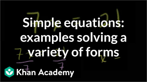 simple equations examples