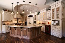 french custom kitchen designer with white and brown cabinets combination