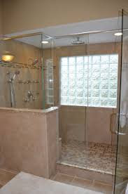Rain Glass Bathroom Window Walk In Shower With Glass Block Windows Bathroom Ideas
