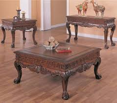 arcata coffee table set with ball and