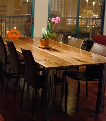 dining table black legs. black walnut dining table with square steel legs modern tables