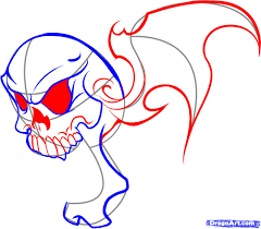 как нарисовать череп карандашом поэтапно