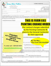 Extra Work Order Template Painting Change Orders Extra Work Order Forms