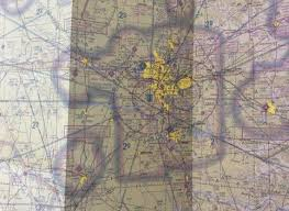 Dallas Fort Worth Sectional Chart Vintage 90s Dallas Fort Worth Sectional Aeronautical Chart 45th Edition