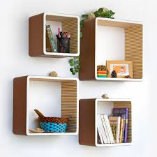 Creative Idea:Awesome Modern Square Wall Shelves For Collections And Books  Awesome Modern Square Wall