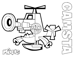 Small Picture Mixels Coloring Pages Erics Activity Pages