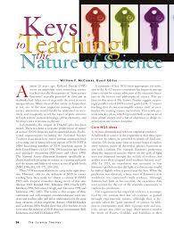 (PDF) <b>Keys</b> to teaching the <b>nature</b> of science: Focusing on the ...