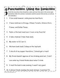 Semicolons And Colons Worksheets Semicolon Practice Worksheets Chzsm Info