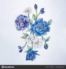 пион тату эскиз фиолетовый пион на белом фоне стоковое фото