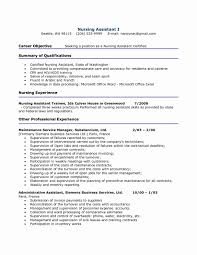 Objective For Certified Nursing Assistant Resume Cover Letter