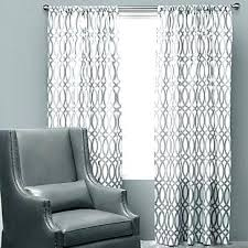 White Patterned Curtains Extraordinary White Curtains With Gray Pattern Adorable White Curtains With Gray
