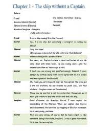 english teaching worksheets count of monte cristo english worksheets the count of monte cristo chapter 1 play