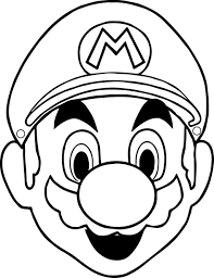 Mario Face Coloring Page Kids Drawing And Coloring Pages - Marisa ...