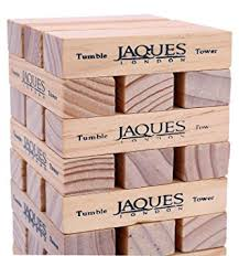 How To Play Tumbling Tower Wooden Block Game Tumble Tower Classic Wooden Game Our Games Blocks Build up to 24