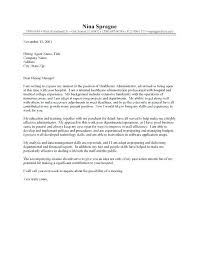 Cover Letter School Administrator Sample Admin Cover Letter Administrator Cover Letter Healthcare