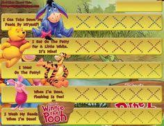 Winnie The Pooh Reward Chart 12 Best Potty Charts Images Printable Potty Chart Potty