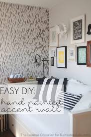 Love the look of wallpaper but not the commitment? This hand-painted  brushstroke accent